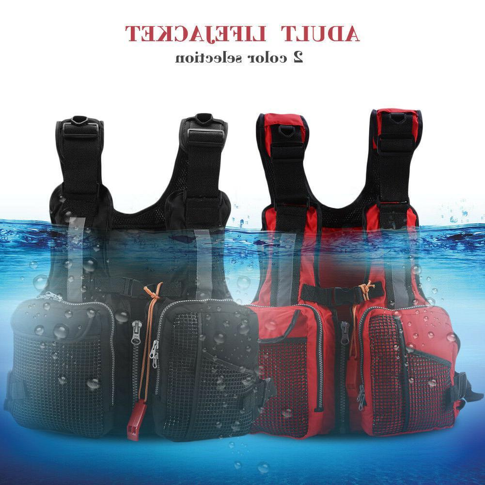 men women adjustable life jacket vest