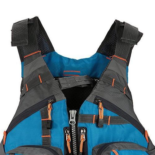 Lixada Fly Safety Jacket Breathable Polyester Mesh Design Vest for Boating Kayak