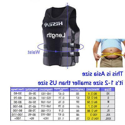 Adults Jacket Safety Premium Neoprene Water Ski PFD SXL