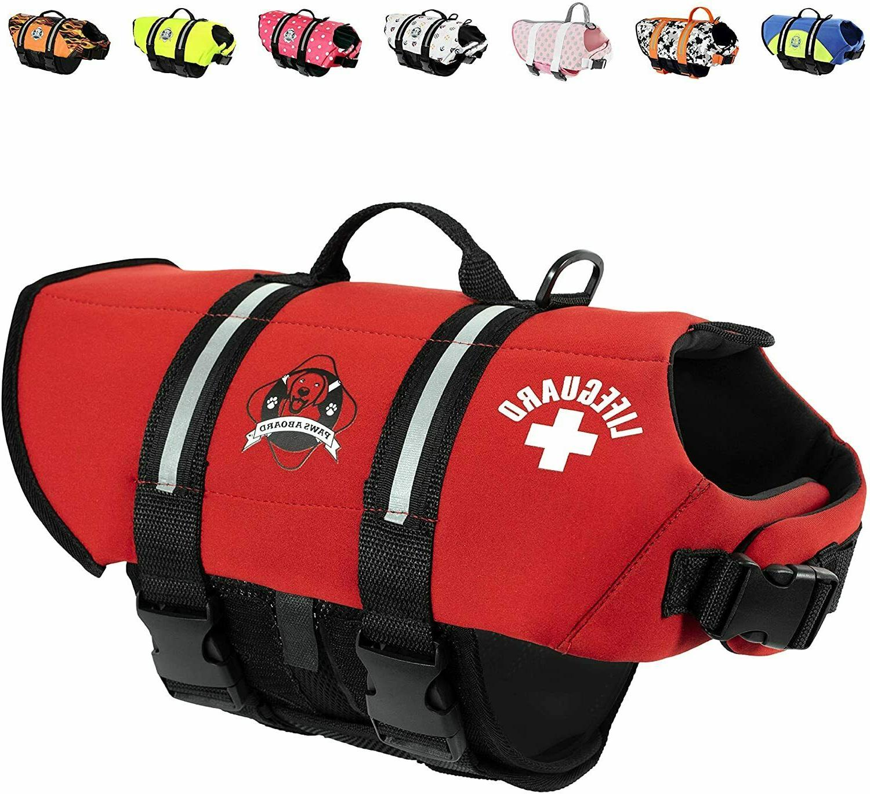 neoprene designer doggy life jacket