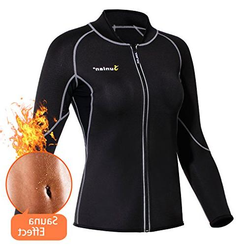 neoprene long sleeves sauna shirt