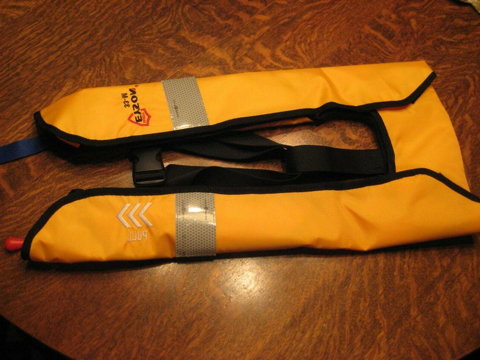 new co2 and manual inflatable life jacket