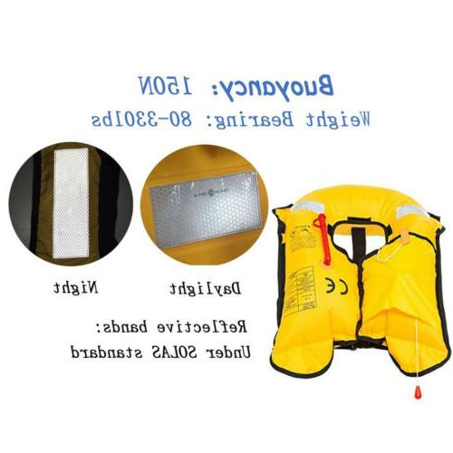 Adult Jacket Automatic Manual Vest Lifesaving PFD Color