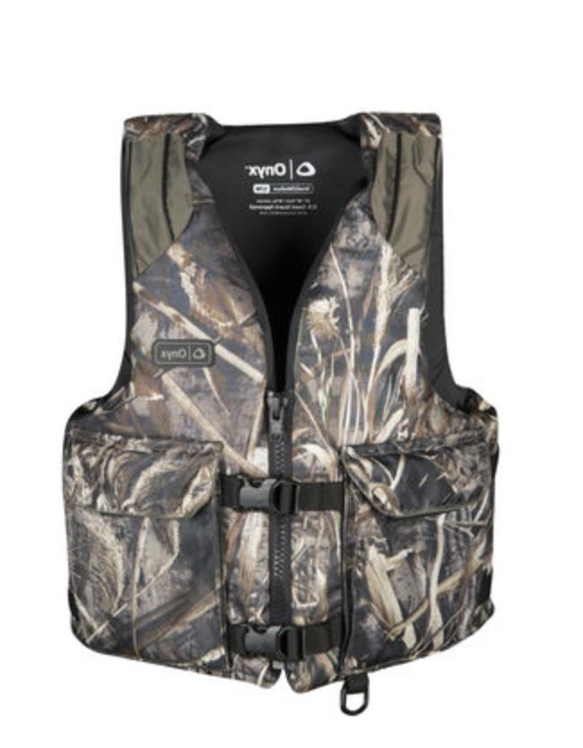 nwt onyx camo fishing life jacket realtree