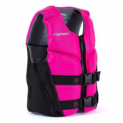 O'Brien V-Back USCG Life Jacket, Pink & Black
