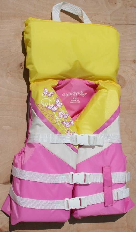 O'Brien GIRLS Approved Life Jacket, Youth 30-40Kg Pink Yello