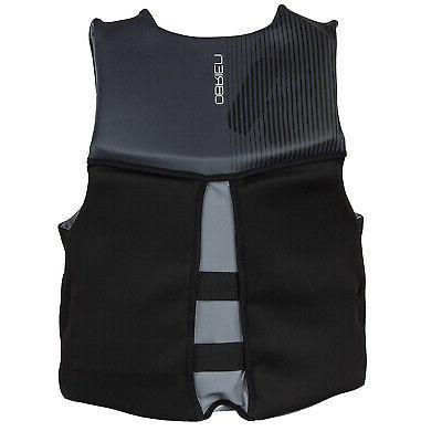 O'Brien Mens V-Back Lightweight Jacket, Black, Size XLarge
