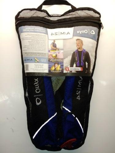 Onyx 132000-500-004-15 A//M-24 Manual Inflatable Life Jacket Blue Automatic