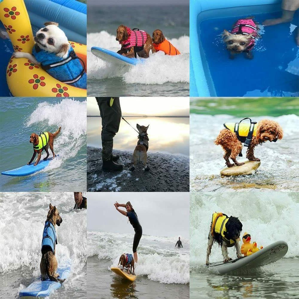 Pet Dog Swimming Reflective Stripe + PULL Handle