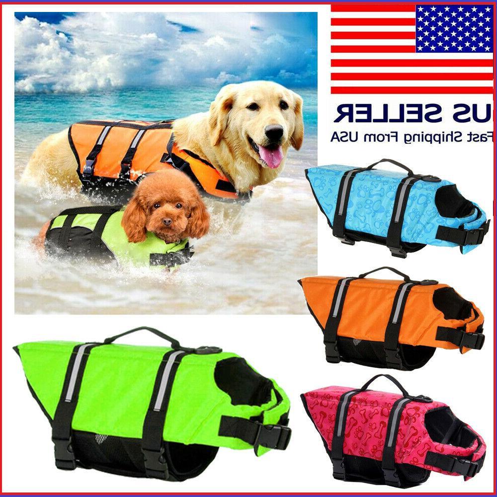 pet dog life jacket swimming durable safety