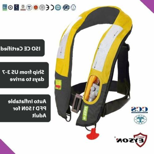 pfd automatic inflatable life jacket vest 150n