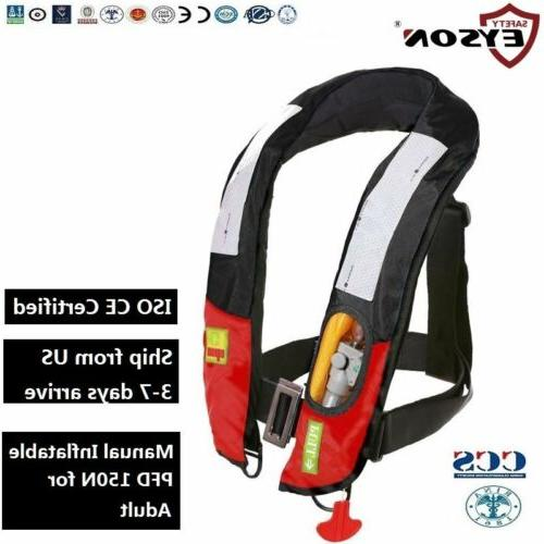 pfd manual inflatable life jacket vest