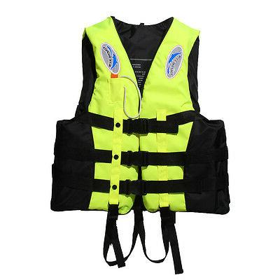 Polyester Adult Jacket Swimming Boating Ski Foam Vest+Whistle
