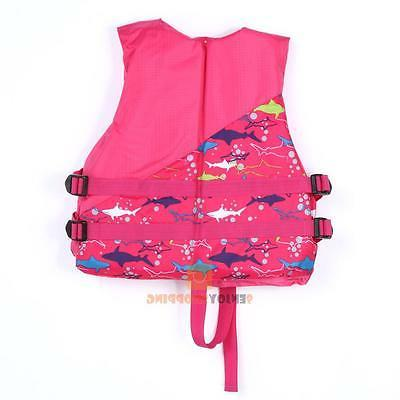 Polyester Adult Kid Jacket Universal Swimming Boating Ski Foam Vest+Whistle
