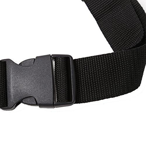 VGEBY Portable Inflatable Lifejacket Waist Belt with Reflective Tapes and Whistle for Fishing Swimming