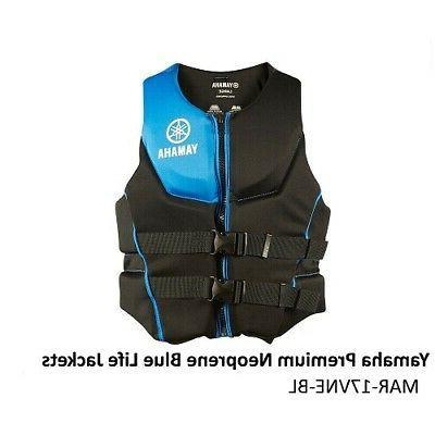 premium neoprene life jacket vest blue pfd