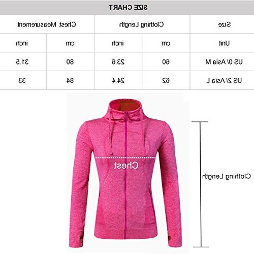 Selighting Women's Sweatshirts Full Hoodie Yoga Jackets with Thumb
