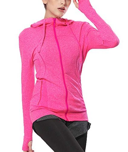 Selighting Full Zip Hoodie Jackets with Thumb