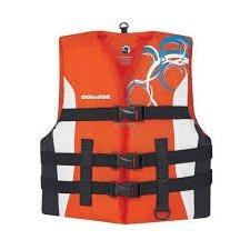 New SeaDoo Jr Motion Nylon PFD Life Jacket Vest Youth Large
