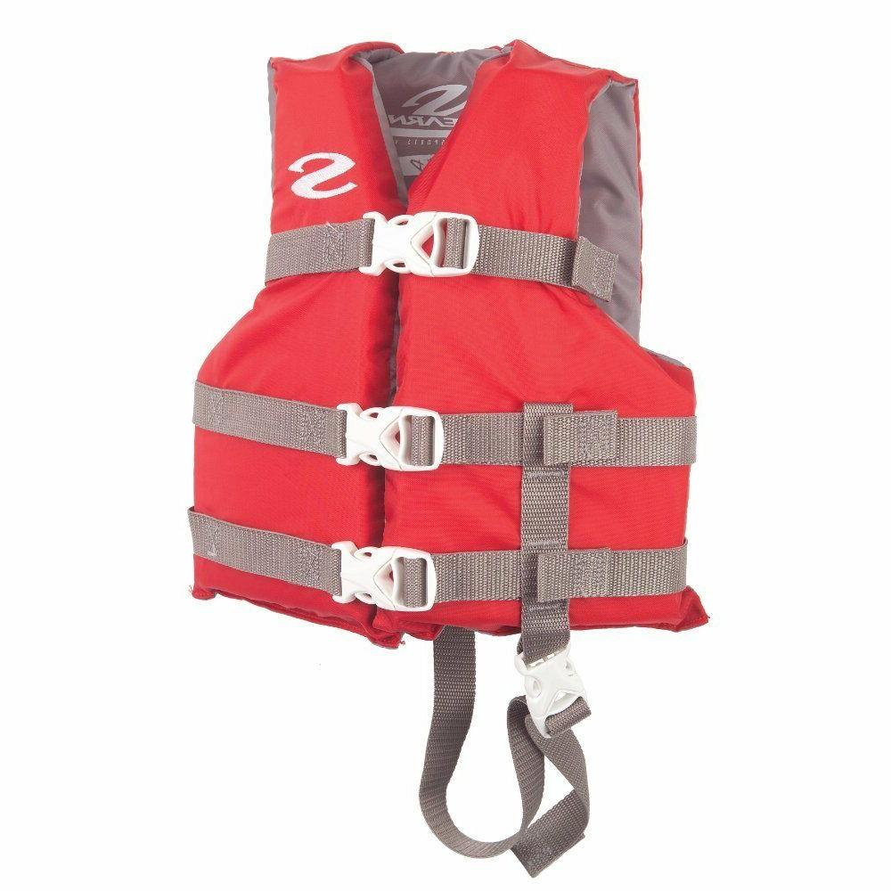 stearns child classic series life vest red