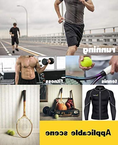 Men Sweat Neoprene Loss Suit Workout Shirt Body Fitness Jacket Gym Shapewear