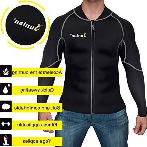 Men Sweat Neoprene Loss Sauna Shirt Body Jacket Shapewear