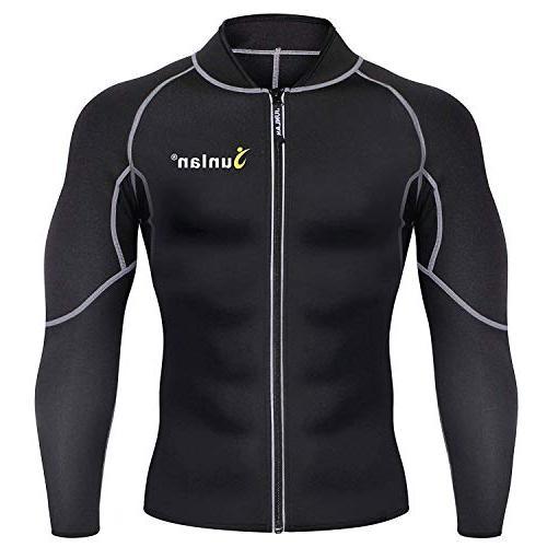 Men Sweat Neoprene Weight Shirt Body Jacket Top Shapewear