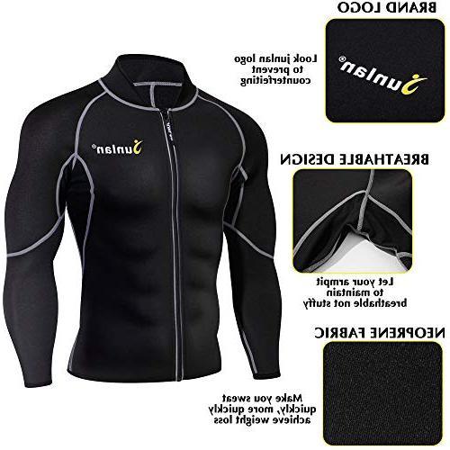 Men Sweat Neoprene Loss Sauna Suit Shirt Shaper Jacket Gym