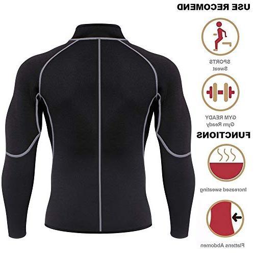 Men Sweat Loss Shirt Body Shaper Fitness Jacket Gym Shapewear