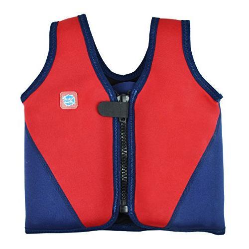 swim vest red navy