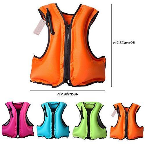 Leegoal Adult Inflatable Swim Buoyancy Snorkeling, Suitable Blue