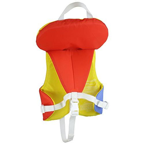 Stohlquist Coast Guard Vest Infants-Orange/Yellow-Infant