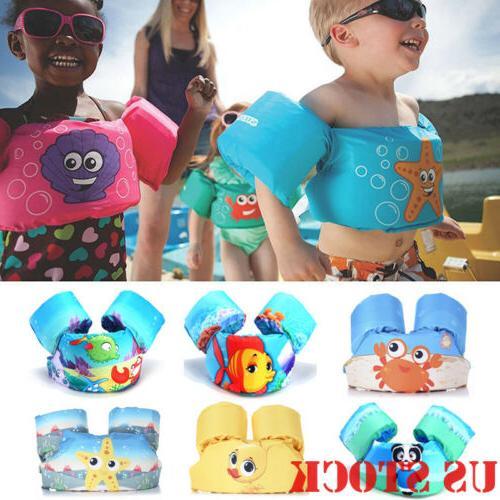 toddler life jacket kids swim vest arm