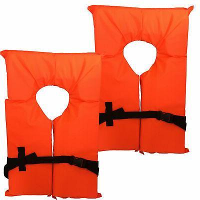 type ii neon orange life jacket vest