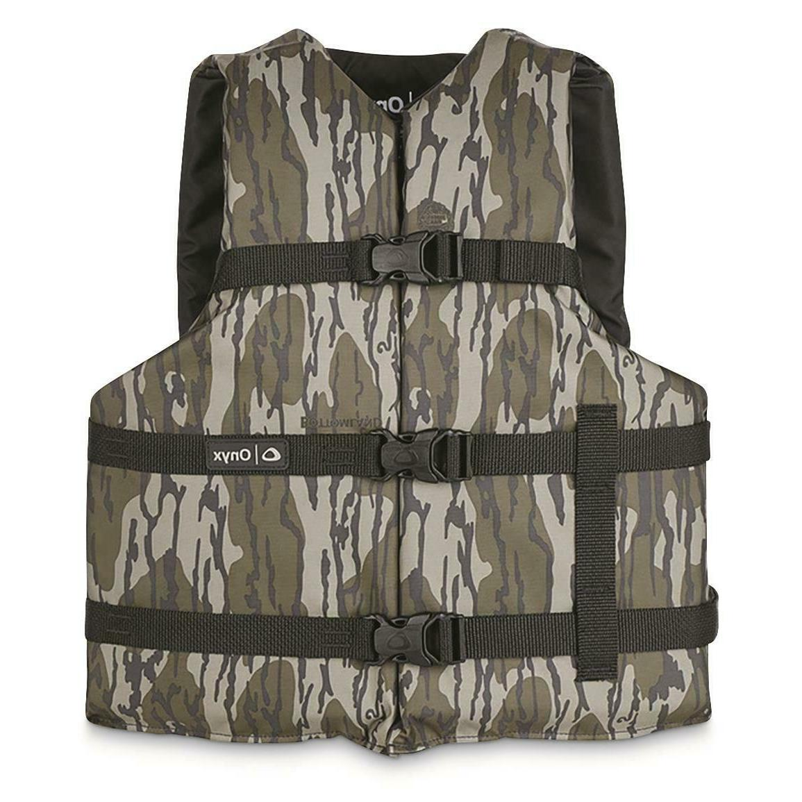 Universal Life Vest Onyx Adult General Purpose PFD Mossy Oak
