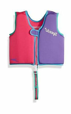 Speedo Kids UPF 50+ Begin to Swim Classic Swim Vest, Berry/G