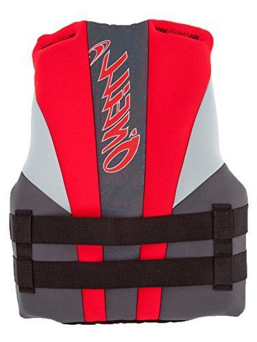 Life Vest, Coal/Red/Flint, 50-90 lbs