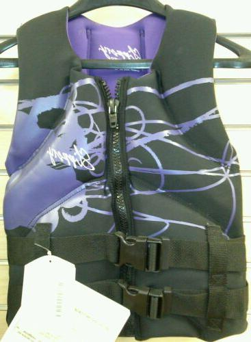 womens xs extra small purple life jacket