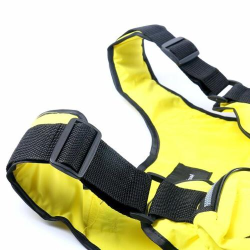 Yellow Boat Buoyancy Aid Jacket Vest Oxford -D13