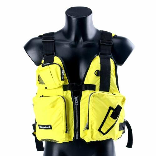 Aid Sailing Kayak Fishing Life Jacket Vest Boat - D13 -Yello