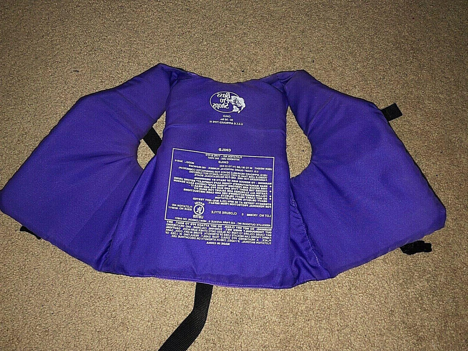 Youth Life USCG Type 30-50 Purple Bass Pro