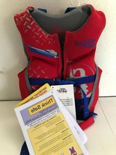 Full Throttle Youth life jacket vest  USCG PFD 20''-25'' che