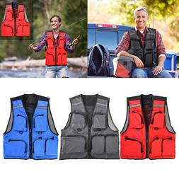 LEO Outdoor Sport Fishing Life Vest 5Pocket Swimming Life Ja