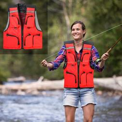 LEO Outdoor Sport Fishing Life Vest 5Pocket Swimming Life Ja