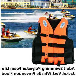 Life Jacket Adult Vest Swimming Fully Enclosed Polyester Foa