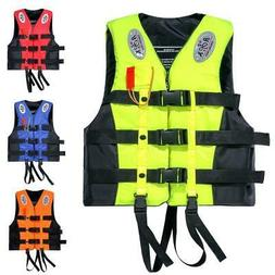 Life Jacket Adult Water Sport Vest L XL 2XL 3XL Whistle Swim
