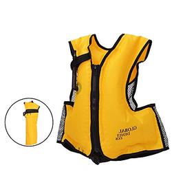 DeHui Globle Life Jacket Adult Inflatable Snorkel Vest Swim