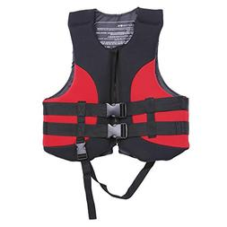 VGEBY Life Jacket, Unisex Adult Watersport Life Vest with Wh
