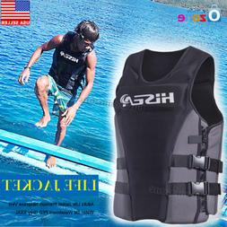 Adults Life Jacket Premium Neoprene Vest Water Ski Wakeboard