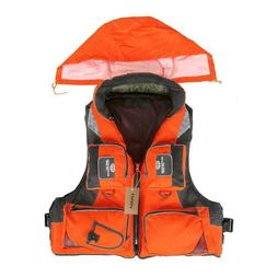 Life Jacket Polyester Vest Fishing Outdoor Sport Safety Life